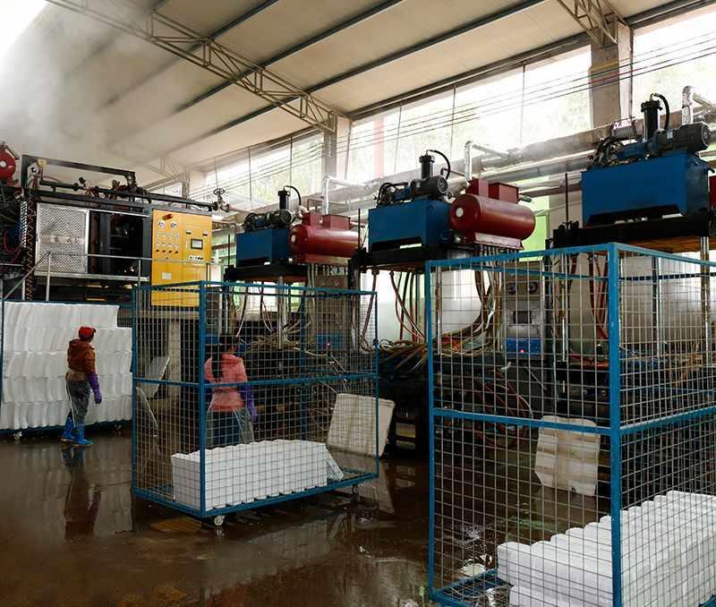 Foam production works