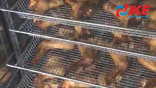 dehydrate chicken wings by WRH-100 series air dehydrator