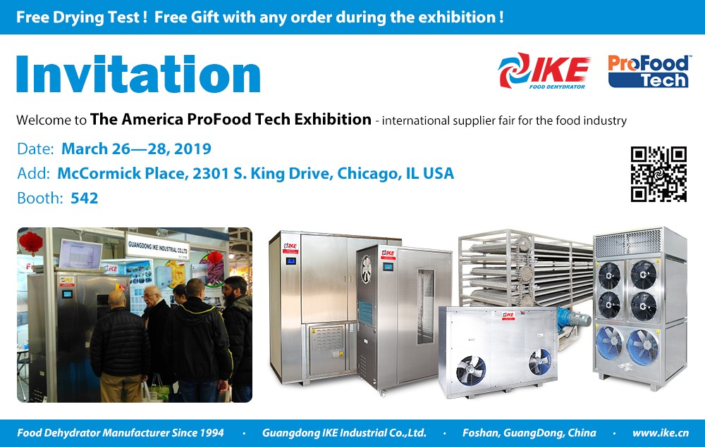 IKE-Dehydrator Machine-welcome To The 2019 America Profood Tech Exhibition
