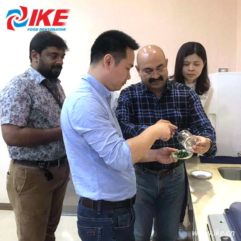 IKE-Indian Customers Come To Check Their Custom-made All-in-one Shallots Dryer-2