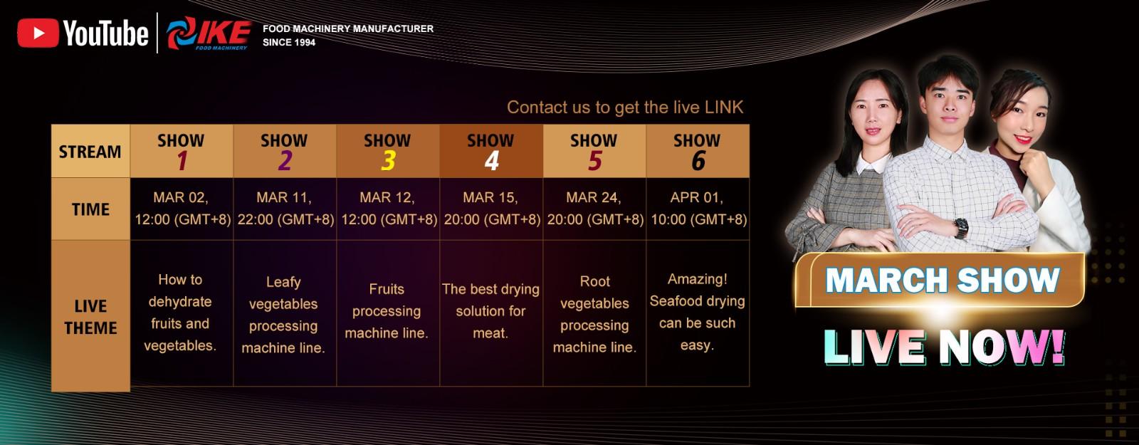 news-IKE-March Live Stream Of IKE Food Machinery-img