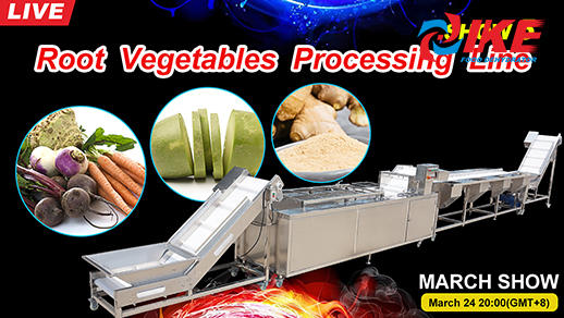Livestream-IKE MARCH SHOW 5 Root Vegetable Processing Machine Line