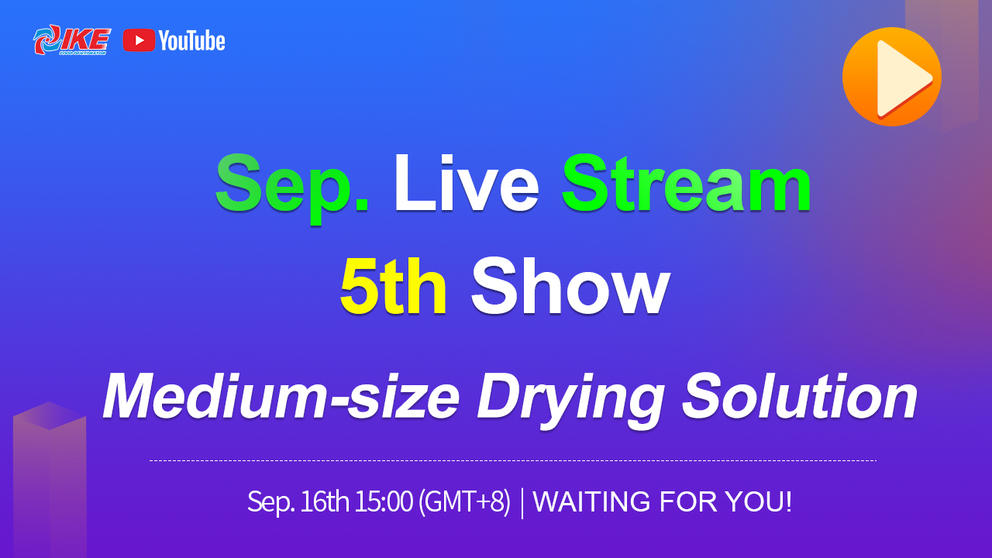 September Livestream-5th Show Medium Size Drying Solution
