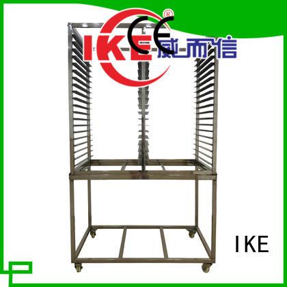IKE stainless heavy duty steel shelving teflon food
